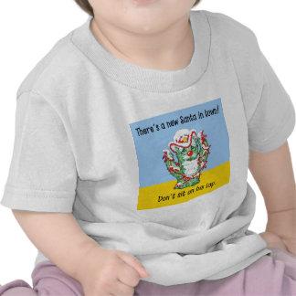 Funny Santa Claus Cactus Christmas Humor T-shirt