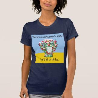 Funny Santa Claus Cactus Christmas Humor T-shirts
