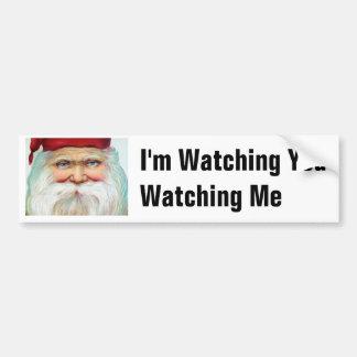 Funny Santa Claus Christmas Bumper Sticker