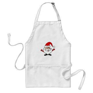 Funny Santa Claus Christmas Design Adult Apron