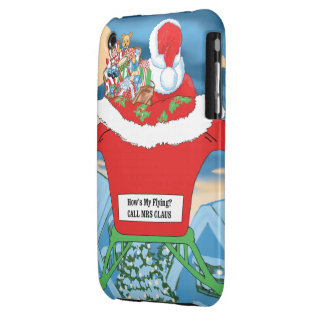 Funny Santa Claus Christmas Humor How's My Flying iPhone 3 Covers