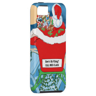 Funny Santa Claus Christmas Humor How's My Flying iPhone 5 Covers