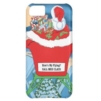 Funny Santa Claus Christmas Humor How's My Flying iPhone 5C Case