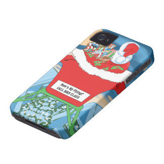 Funny Santa Claus Christmas Humor How's My Flying Case-Mate iPhone 4 Case