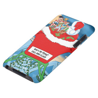 Funny Santa Claus Christmas Humor How's My Flying iPod Case-Mate Cases