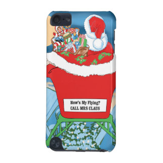 Funny Santa Claus Christmas Humor How's My Flying iPod Touch (5th Generation) Cases