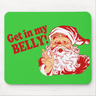 Funny Santa Claus Christmas Mouse Pad