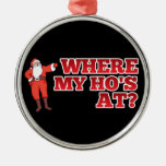 Funny Santa Claus Christmas Ornament