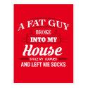 Funny Santa Claus Christmas Saying Postcard (<em>$1.15</em>)