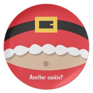 Cookie Santa Claus Plates Cookie Santa Claus Plate Designs