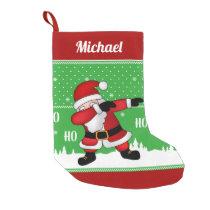 Funny Santa Claus Dabbing Small Christmas Stocking