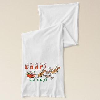 Funny Santa Claus  Got a Flat Scarf