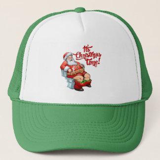 Funny Santa Claus Having a Rough Christmas Trucker Hat