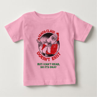Funny Santa Claus Kids Shirt - Santa Don't Exist..