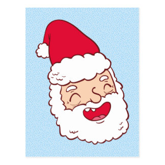 Funny Santa Claus laughing his head off Postcard