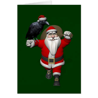 Funny Santa Claus Loves Ravens Card