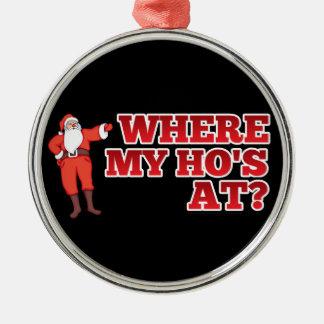 Funny Santa Claus Metal Ornament