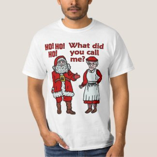 Funny Santa Claus and Mrs Christmas T-Shirt