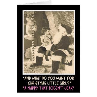 Funny Santa Claus nappy Greeting Card