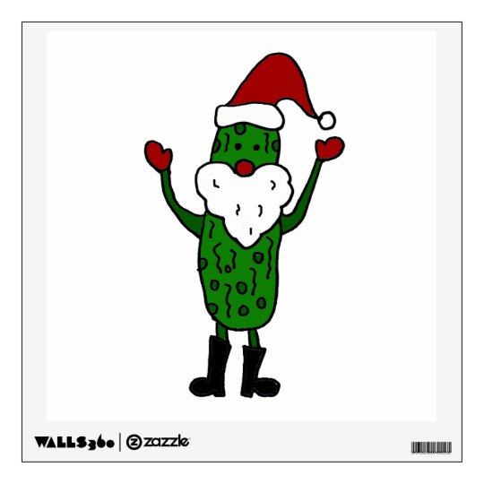 Funny Santa Claus Pickle Wall Sticker