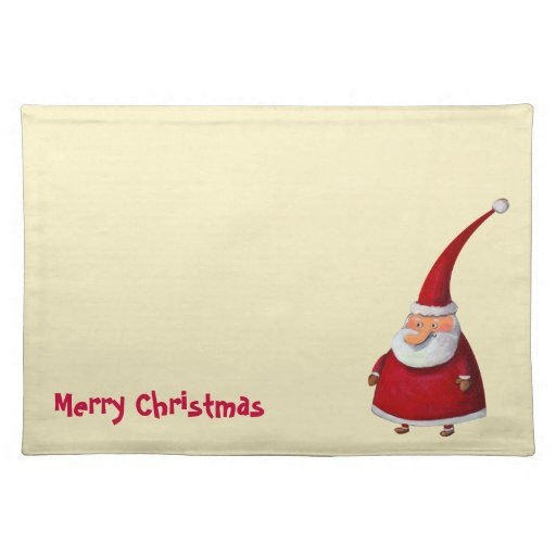 Funny Santa Claus Placemats