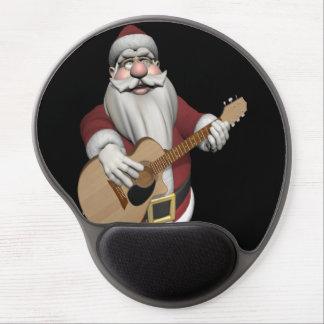 Funny Santa Claus Plays Accoustic Guitar Gel Mouse Pad
