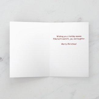 Funny Santa Claus Pun Christmas Card
