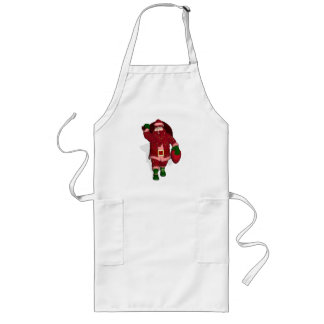 Funny Santa Claus Strawberry Farmer Long Apron