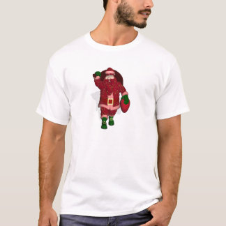 Funny Santa Claus Strawberry Farmer T-Shirt