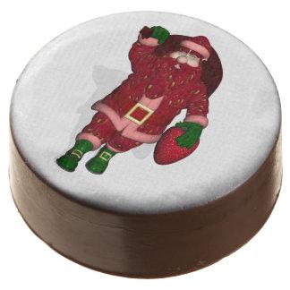 Funny Santa Claus Strawberry Farmer Chocolate Covered Oreo