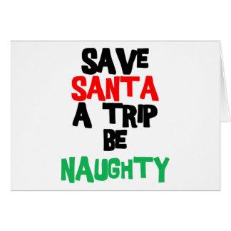 Funny Santa Claus T-Shirt Sweatshirt Gift Card