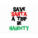 Funny Santa Claus T-Shirt Sweatshirt Gift Postcard