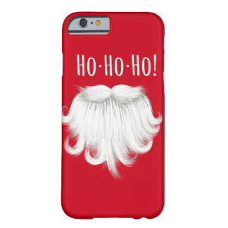 """Funny Santa Claus white beard laughing """"Ho ho ho"""" Barely There iPhone 6 Case"""