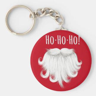 "Funny Santa Claus white beard laughing ""Ho ho ho"" Keychain"