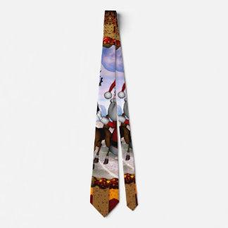Funny Santa Claus with reindeer Tie