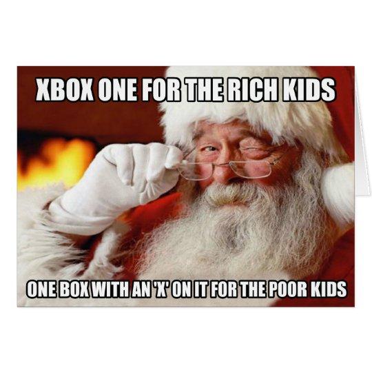 funny_santa_claus_xbox_one_meme_card r5bbb69693f154d0982af9c3bdd19beec_xvuak_8byvr_540 funny santa claus xbox one meme card zazzle com