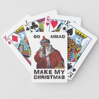 Funny Santa Clause aiming gun - make my Christmas! Bicycle Card Decks