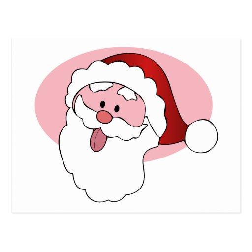 Funny Santa custom postcard