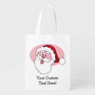 Funny Santa custom reusable bag