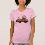 Funny Santa driving Rudolph car t-shirt design