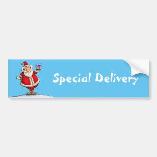 funny santa gift delivery christmas cartoon bumper sticker