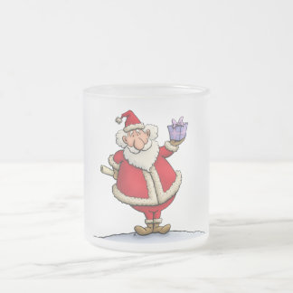 funny santa gift delivery christmas cartoon frosted glass coffee mug