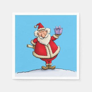 funny santa gift delivery christmas cartoon napkin