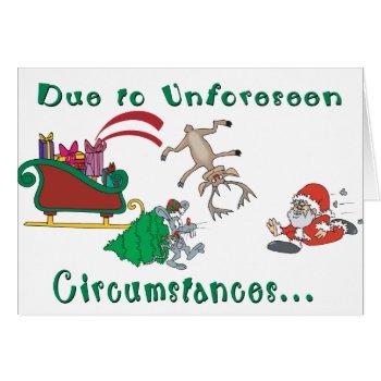 Funny Santa Humor Christmas Card