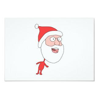 Funny Santa. 3.5x5 Paper Invitation Card