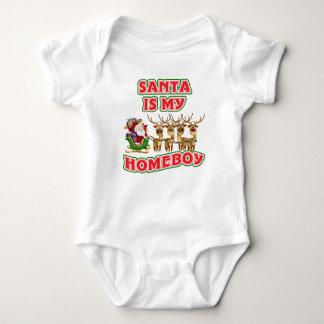 Funny Santa Is My Homeboy Baby Bodysuit