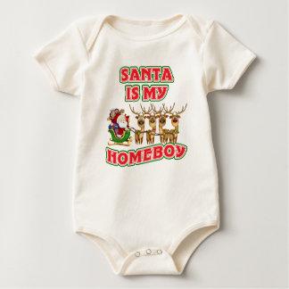 Funny Santa Is My Homeboy Christmas Gift Baby Bodysuit