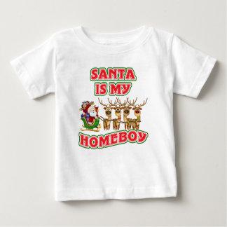 Funny Santa Is My Homeboy Christmas Gift Baby T-Shirt