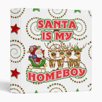 Funny Santa Is My Homeboy Christmas Gift Binder