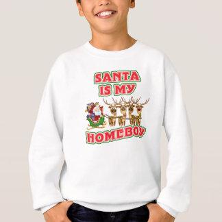 Funny Santa Is My Homeboy Christmas Gift Sweatshirt
